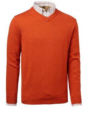 Пуловер за лов Chevalier Gary w patches Orange