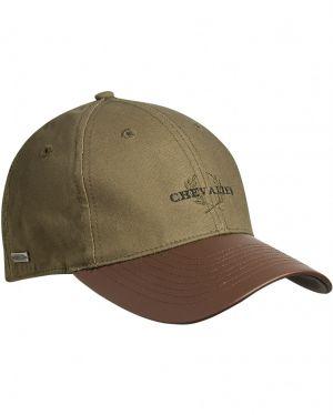 Chevalier Cotton Cap Faux-Leather Brim