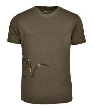 Ловна тениска Blaser Logo V T-shirt olive